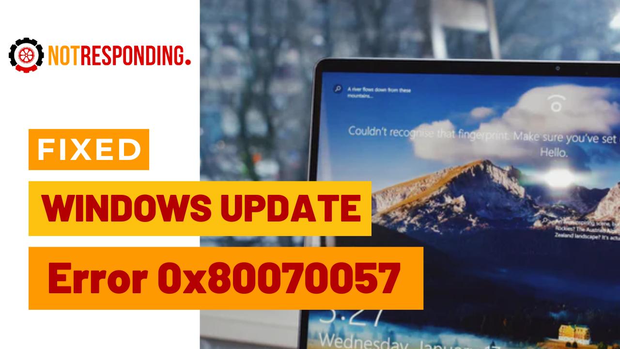 Windows Update Error 0x80070057 1