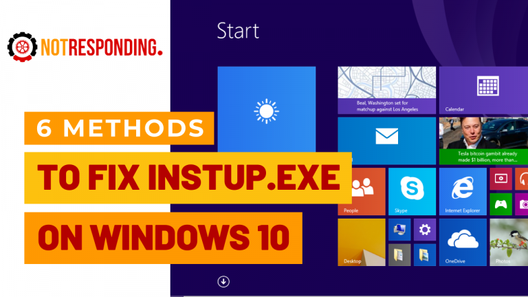 fixed Instup exe Application Error on Windows 10