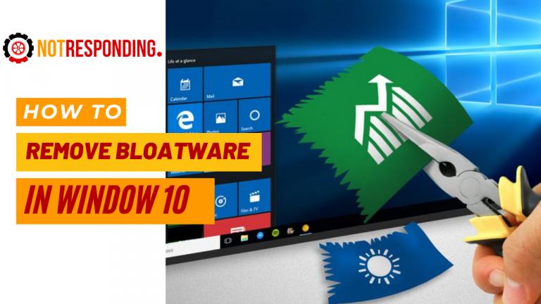 Remove bloatware in windows 10